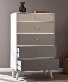 Gray Scale Color Block Five-Drawer Dresser | southern enterprises