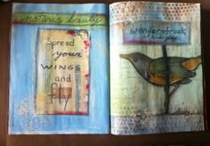 via  Sanity Thru Art Journaling....  Playing at altering an Art Journaling magazine by Somerset...