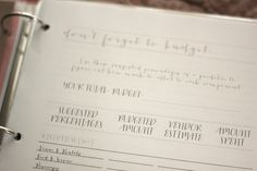 free printable lists and pages for wedding binders