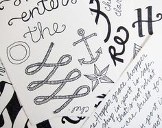 beautiful hand lettering from Scouts Honor Co.