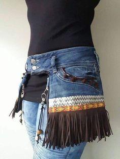 Denim Fashion, Boho Fashion, Womens Fashion, Fashion Sewing, Fashion Ideas, Vintage Fashion, Fashion Outfits, Denim Bag, Denim Skirt