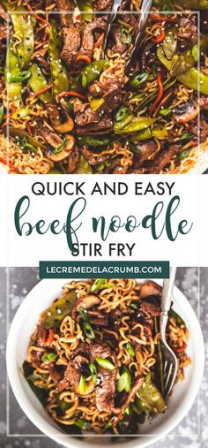 This beef and noodle stir fry is nothing short of extraordinary and will having you wanting seconds before you even finish your first helping! Using pantry staples and budget-friendly beef, plus loads of healthy vegetables, this is an Asian dish wo Easy Vegetable Stir Fry, Easy Beef Stir Fry, Beef Noodle Stir Fry, Asian Stir Fry, Healthy Stir Fry, Beef And Noodles, Ground Beef Stir Fry, Shrimp And Vegetables, Fried Vegetables