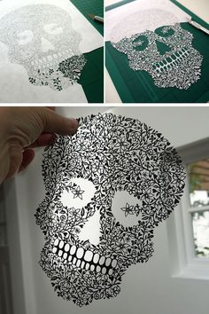 Sugar skull of paper. Famous contemporary art | DIY is FUN