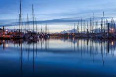 The blue hour arrives on port by Rémi Ferreira on 500px #France