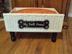 PET BED Dog My Best Friend sleeping comfy Recycled animal lovers,Pampered pets. $45.00, via Etsy.