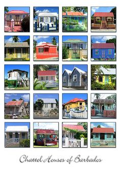 Barbados Photograph - Chattel Houses Of Barbados by Barbara Marcus Caribbean Homes, Southern Caribbean, Caribbean Sea, Caribbean Queen, Bridgetown, Barbados, Little England, Port Of Spain, Canvas Home