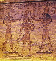 Set and Horus blessing Ramesses as depicted in a small temple at Abu Simbel. Ancient Egyptian Beliefs, Egyptian Mythology, Baphomet, Demon Spells, Magic Spells, Satan, Summoning Demons, New Gods, The Exorcist