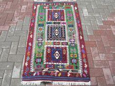 "Anatolian Antique Turkish Aydin Kilim 32 6"" x 57 4"" Area Rug Carpet | eBay"