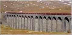 Ballast train on Ribblehead Viaduct