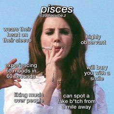 Pisces Love, Pisces Quotes, Zodiac Signs Pisces, Zodiac Signs Astrology, Zodiac Memes, Zodiac Star Signs, Zodiac Facts, Pisces Star Sign, Pisces Woman