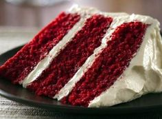 "Paula Deen's Red Velvet Cake - ""scrumptious"" @allthecooks #recipe"