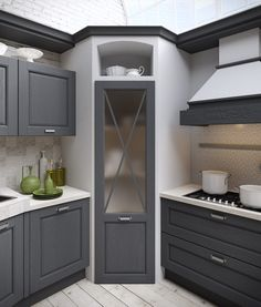 ✔ 44 best small kitchen design ideas for your tiny space 17 - Kitchen Pantry Cabinets Home Decor Kitchen, Kitchen Design Small, Kitchen Remodel Before And After, Modern Kitchen, Kitchen Remodel Small, Kitchen Layout, Pantry Design, Kitchen Style, Kitchen Renovation