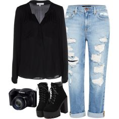 #08 by rociorp36 on Polyvore featuring Milly and Genetic Denim