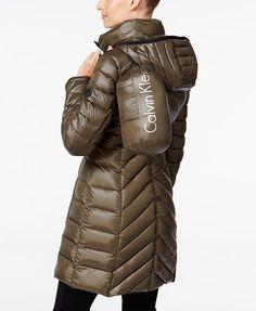 Calvin Klein Chevron-Quilted Packable Puffer Coat | macys.com