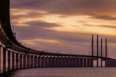 The Sunset Connection http://mabrycampbell.com #image #photo #bridge #oresundsbron #malmo #sweden #mabrycampbell #malmö #øresund #öresundsbron #sunset