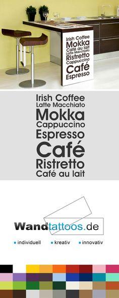 Ideal Wandtattoo Caf Variationen