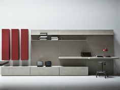 LINE K Storage wall by Zampieri Cucine design Stefano Cavazzana