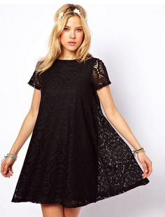 Summer Dress 2014 Women Clothing Short Sleeve O Neck Lace Women Dress Solid Loose Casual Dress Candy Color Dresses Plus Size-in Dresses from Apparel & Accessories on Aliexpress.com   Alibaba Group