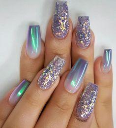 Blue Nail Designs, Best Nail Art Designs, Winter Nail Designs, Short Nail Designs, Pretty Nail Art, Cute Nail Art, Cute Nails, Trendy Nails, Design Ongles Courts