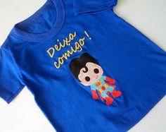 Camiseta - Super Homem bebê