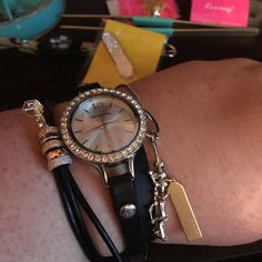 The new Origami Owl watch paired with a few pieces from the CORE collection. <3