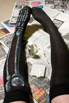 DIY: Last Minute Costume Socks