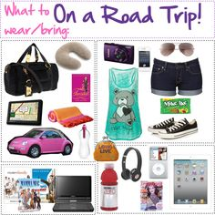 """What to wear/bring: On a Road Trip!"" by aacorreia on Polyvore"