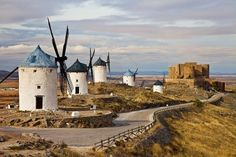 Picture of traditional Spain - windmills of Don Quixote stock photo, images and stock photography. Le Moulin, Beautiful Places To Visit, Spain Travel, Summer Travel, Monument Valley, Travel Inspiration, Madrid, Castle, Valencia