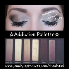 Younique Addiction Pallette Cool No. 2 3D lash mascara www.youniqueproducts.com/shealatini