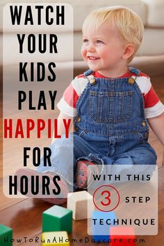 Are you ready for your children to play happily for hours? I explain my time proven method to help kids learn how to play independently for long stretches of time. This is a 3 step technique and this video explains Step One. Click on the picture to find out more!
