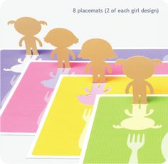 Placemats and stickers - so cute!