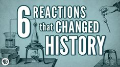 It's Okay To Be Smart host Joe Hanson takes a look at six chemical reactions that changed history. High School Chemistry, Teaching Chemistry, Chemistry Lessons, Science Chemistry, Middle School Science, Physical Science, Biology Teacher, Ap Biology, Teaching History