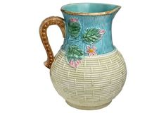 Large Antique Majolica Jug