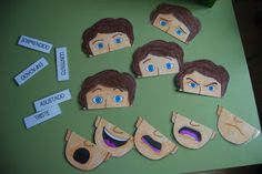 The trunk AL: Puzzle emotions Emotions Activities, Toddler Activities, Learning Activities, Feelings Preschool, Spanish Classroom, Teaching Spanish, Teaching English, Feelings And Emotions, Spanish Lessons