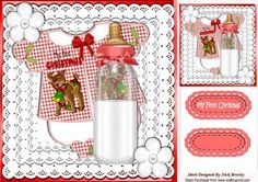 Babys 1st Christmas with see through bottle 8x8 on Craftsuprint - Add To Basket!