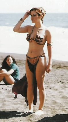 Leia: a rare image of the most famous Princess Leia, on the set of Star Wars.