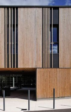 Gallery of Social Center in Aubenas / Composite Architectes – 3 Social Center in Aubenas,© Studio Erick Saillet Wood Cladding Exterior, Timber Cladding, Design Exterior, Facade Design, Cladding Design, Timber Architecture, Architecture Design, Architecture Definition, Design Hotel
