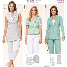 Burda Style Pattern 6801 Jackets, Coats, Vests