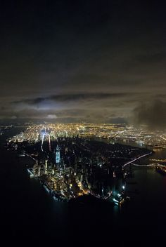 Manhattan blackout by Iwan Baan    I took this from a helicopter, after the storm in New York, as we flew over Manhattan. It was a two-day scramble to organise it and to get across the city, since nothing was working – the tunnels and bridges were closed, there was no transportation. It was a cold, three-hour helicopter ride to and from the city.