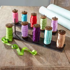 Wooden Spools Of Ribbon - Moroccan | Office Accessories