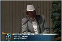 Russell Means speaks about his life, AIM and Wounded Knee.