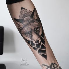 Fox for Rikky Fuchs Tattoo, Black White Tattoos, B Tattoo, Animal Tattoos, Tattoo Inspiration, Blackwork, Tattoo Artists, Tatting, Body Art