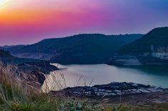 Purple Sky, Night Skies, Dawn, River, Mountains, Instagram Posts, Rivers, Bergen