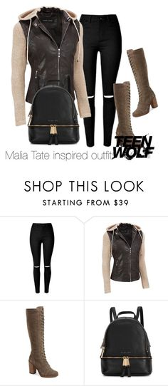 """Malia Tate inspired outfit/TW"" by tvdsarahmichele ❤ liked on Polyvore featuring Steve Madden and Michael Kors"