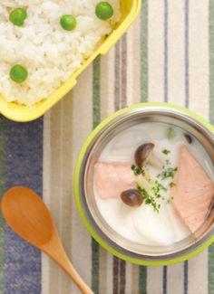 簡単でおいしくて省エネ♪スープジャー生活はじめませんか?   キナリノ 【鮭とカブのミルクシチュー】 市販のクリームシチューのルーを使っ