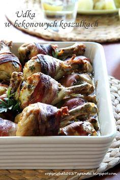 TAPENDA Przepisy Kulinarne na każdy dzień: Udka w bekonowych koszulkach