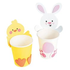 Instead of duck, duck, goose, try a game of chick, Duck Crafts, Bunny Crafts, Crafts For Teens To Make, Diy For Kids, Crafty Kids, Easter Crafts For Kids, Easter Treats, Creations, Party