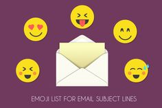List Of Emojis For Email Subject Line: Copy And Paste