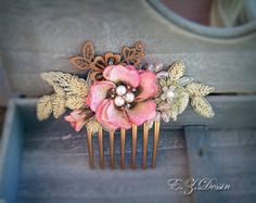 Check out Vintage hair accessories. Decorative Applique .Hand embroidery on ezdessin