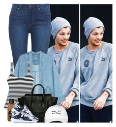 """""""#423"""" by zarina-fashion ❤ liked on Polyvore featuring Paige Denim, Steve J & Yoni P, Zimmermann, CÉLINE, October's Very Own and NIKE"""